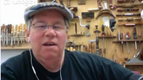 Chuck on Modern Woodworkers Association's Show